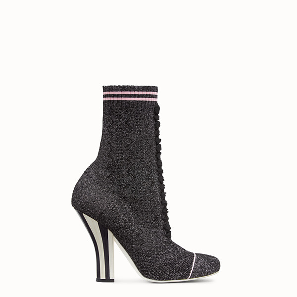 FENDI BOOTS - Boots in black stretch fabric - view 1 small thumbnail