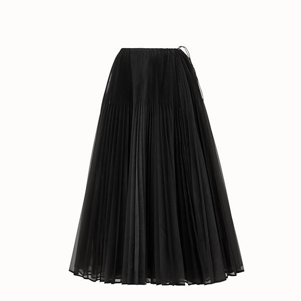 FENDI SKIRT - Black organza skirt - view 1 small thumbnail