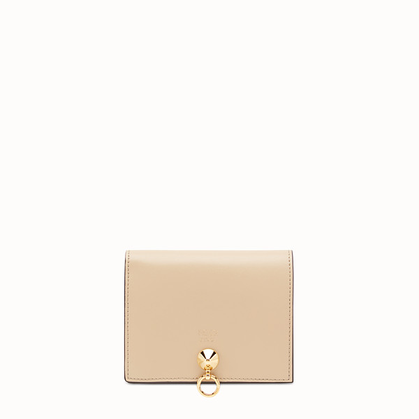 FENDI BIFOLD - Beige leather compact wallet - view 1 small thumbnail