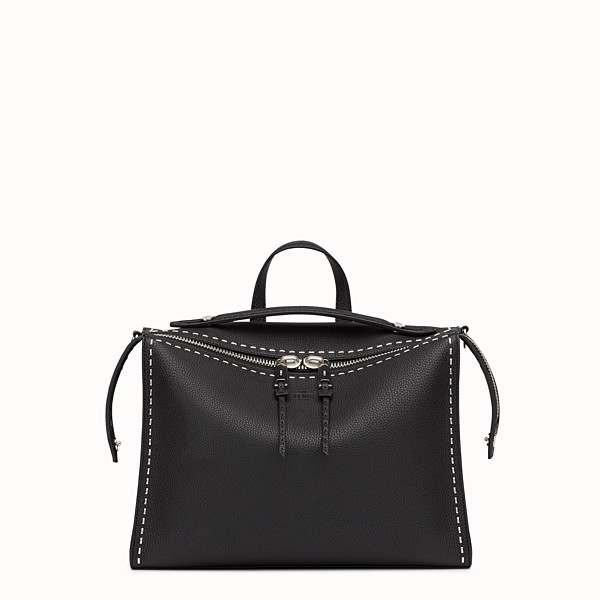 FENDI MESSENGER - Black leather Selleria shoulder bag - view 1 small thumbnail
