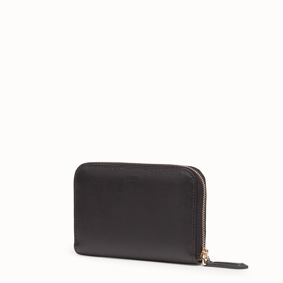 FENDI SMALL ZIP-AROUND - Black leather wallet - view 2 detail