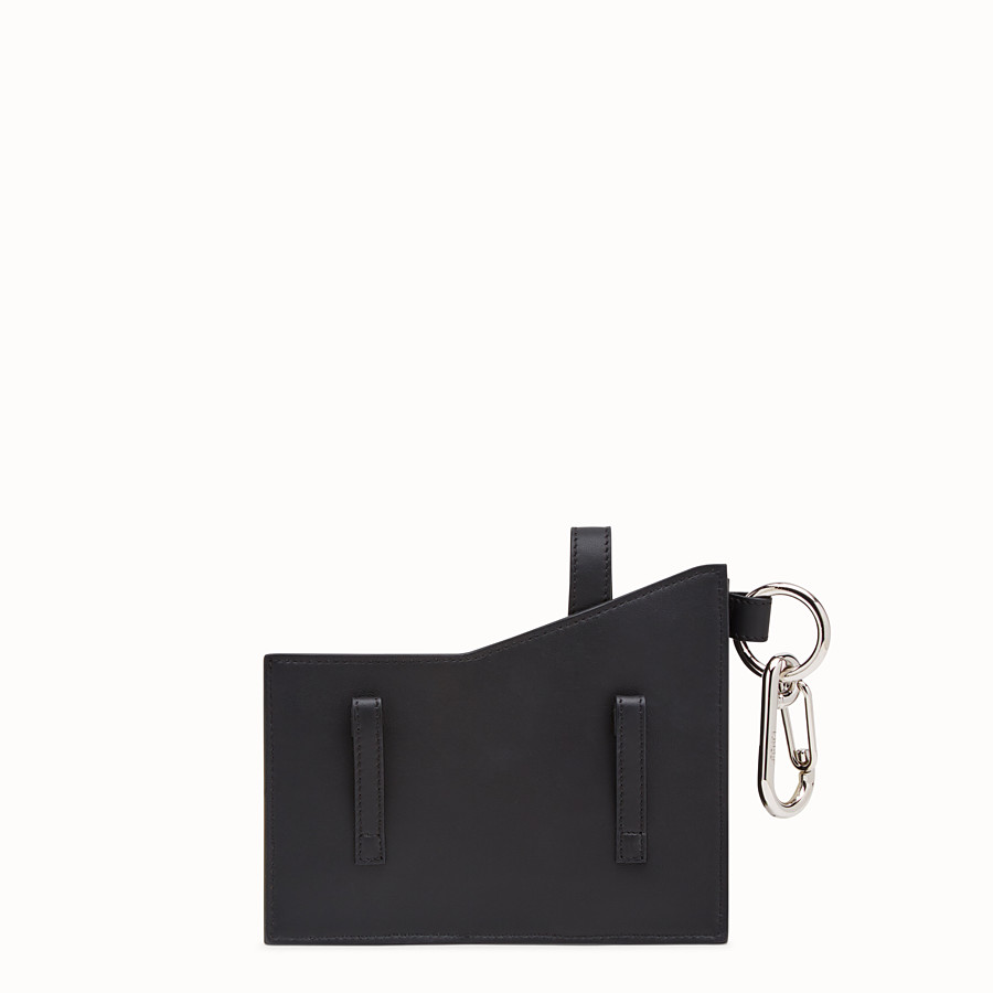 FENDI CHARM WITH POCKETS - Charm in black FF fabric - view 2 detail