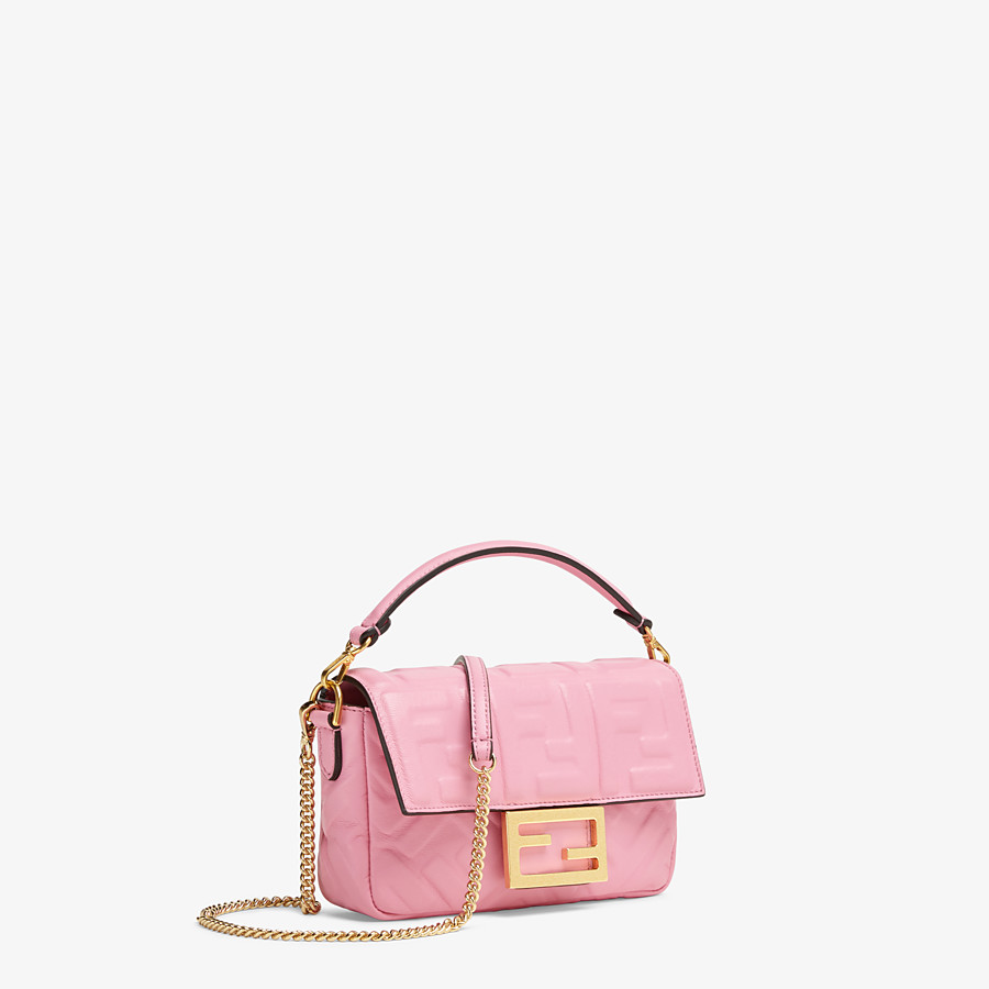 FENDI BAGUETTE - Pink nappa leather bag - view 2 detail