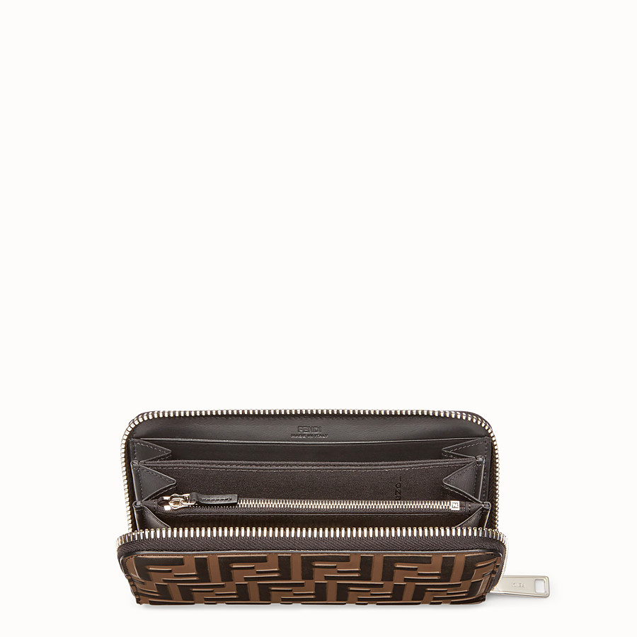 FENDI WALLET - Brown leather wallet - view 3 detail