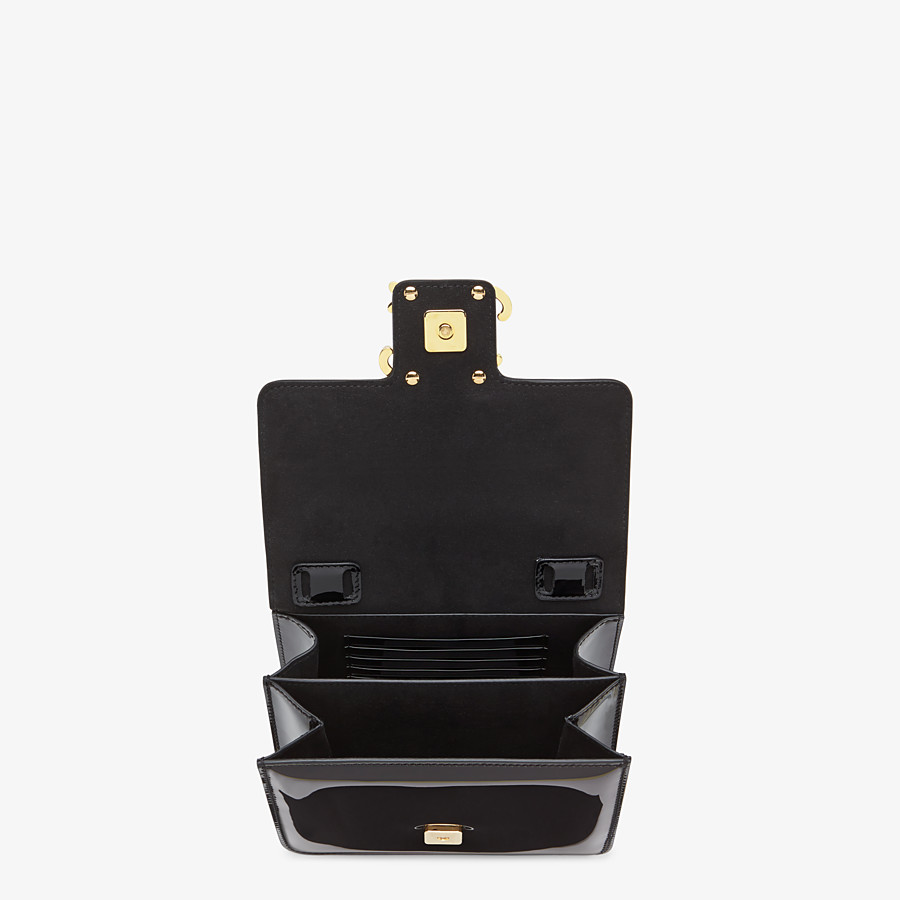 FENDI KARLIGRAPHY - Black patent leather bag - view 5 detail