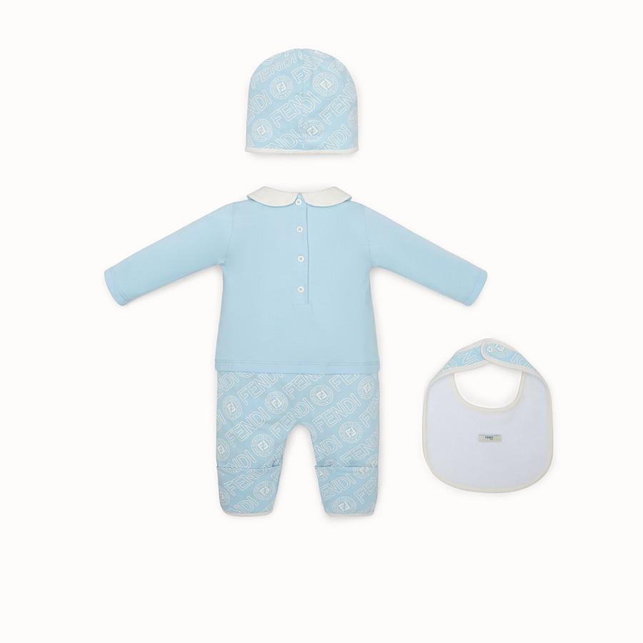 FENDI BABY'S KIT - Light blue cotton jersey baby kit - view 2 detail