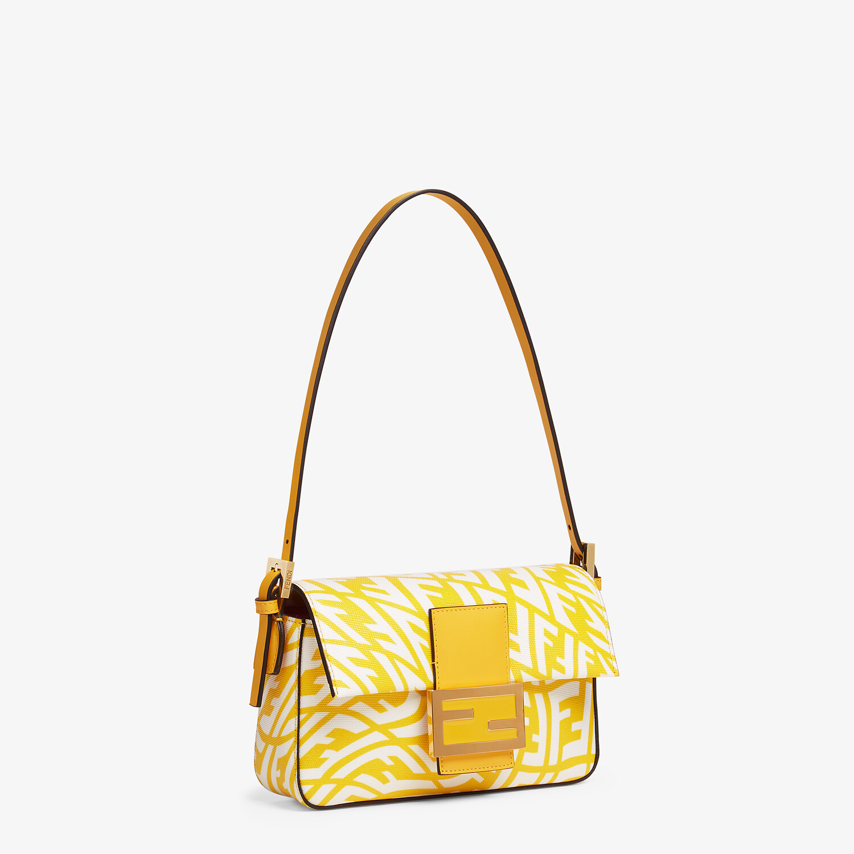 FENDI MINI BAGUETTE 1997 - Yellow glazed canvas bag - view 3 detail
