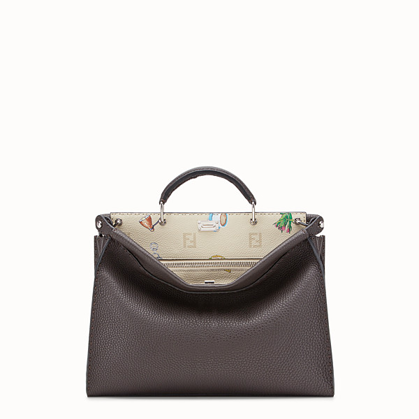 FENDI PEEKABOO FIT - Brown leather bag - view 1 small thumbnail