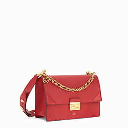 FENDI KAN U - Red leather bag - view 3 thumbnail