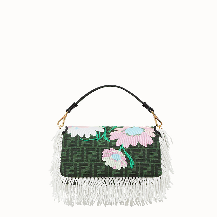 FENDI BAGUETTE - Green fabric bag - view 4 detail