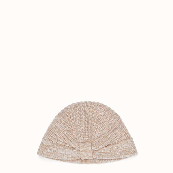 FENDI HAT - Beige cashmere hat - view 1 small thumbnail