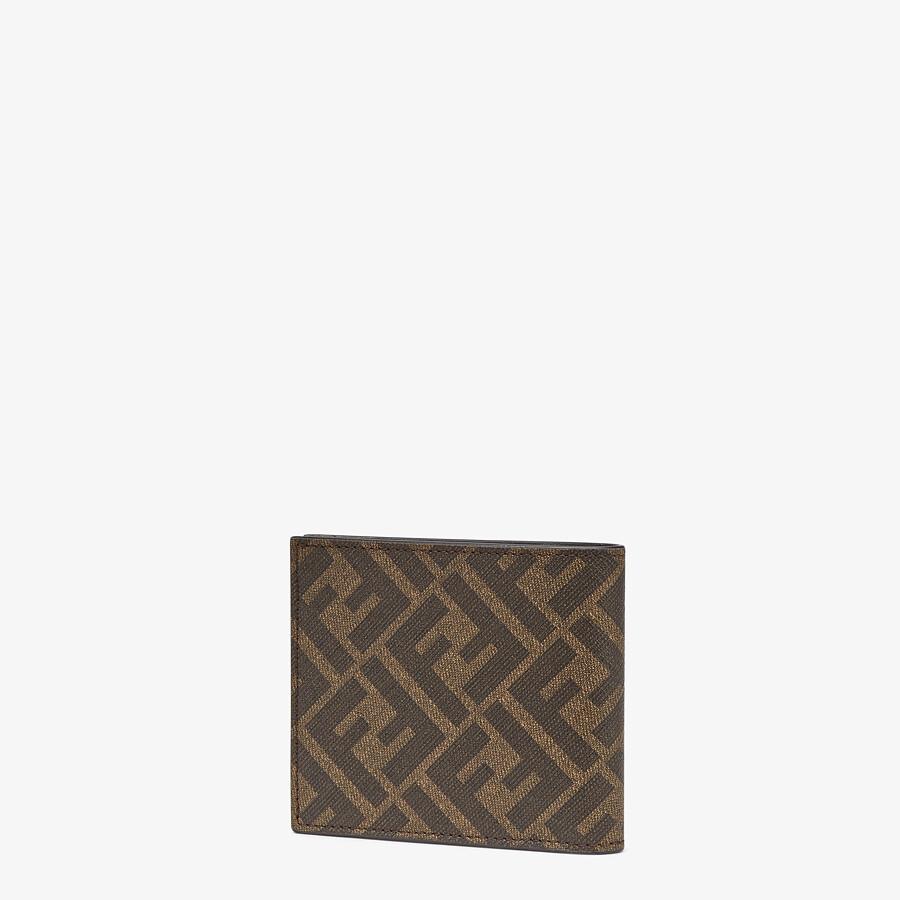 FENDI 皮夾 - 棕色布料雙折皮夾 - view 2 detail