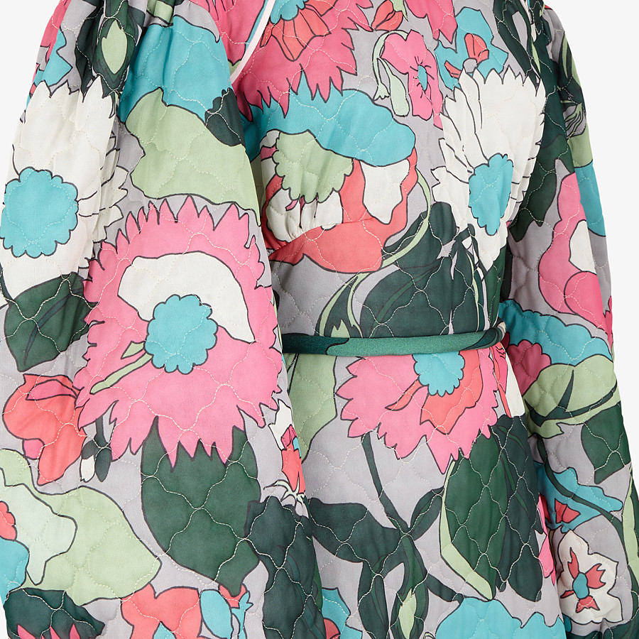 FENDI DRESS - Multicolor quilted fabric dress - view 3 detail