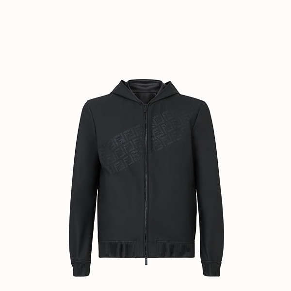 FENDI BLOUSON JACKET - Black leather jacket - view 1 small thumbnail