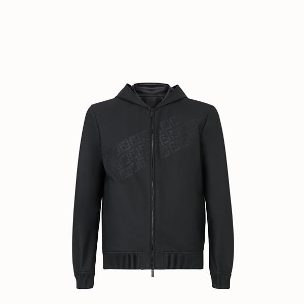 FENDI BLOUSON JACKET - Black leather jacket - view 1 small thumbnail
