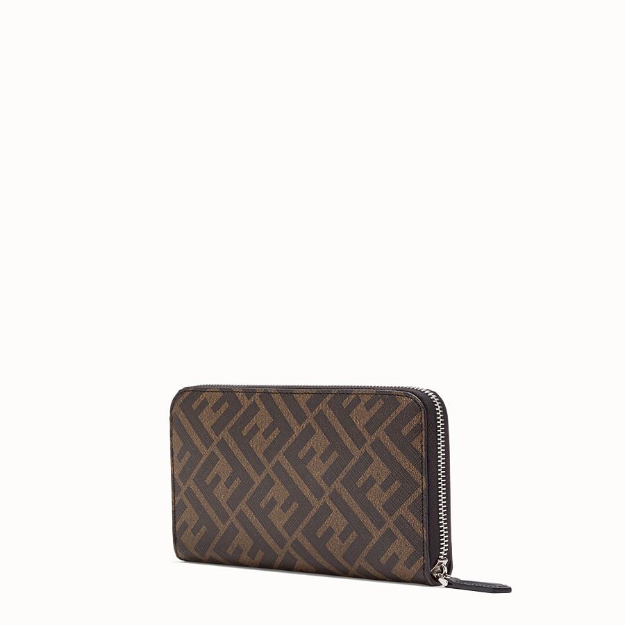 FENDI ZIP-AROUND - Brown fabric wallet - view 2 detail