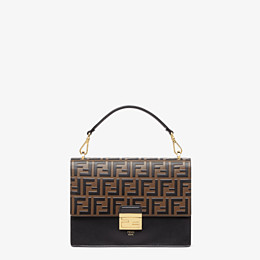 FENDI KAN U - Black leather bag - view 1 thumbnail