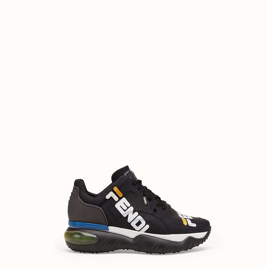 Luxury Sneakers Womens Designer Shoes Fendi D Island Casual Black