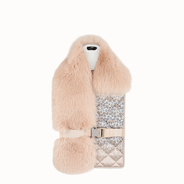 FENDI 衣領 - 粉紅色狐狸皮草衣領 - view 1 小型縮圖