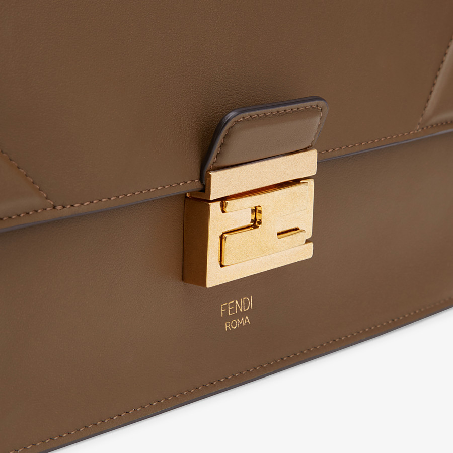 FENDI KAN U - Brown leather bag - view 6 detail