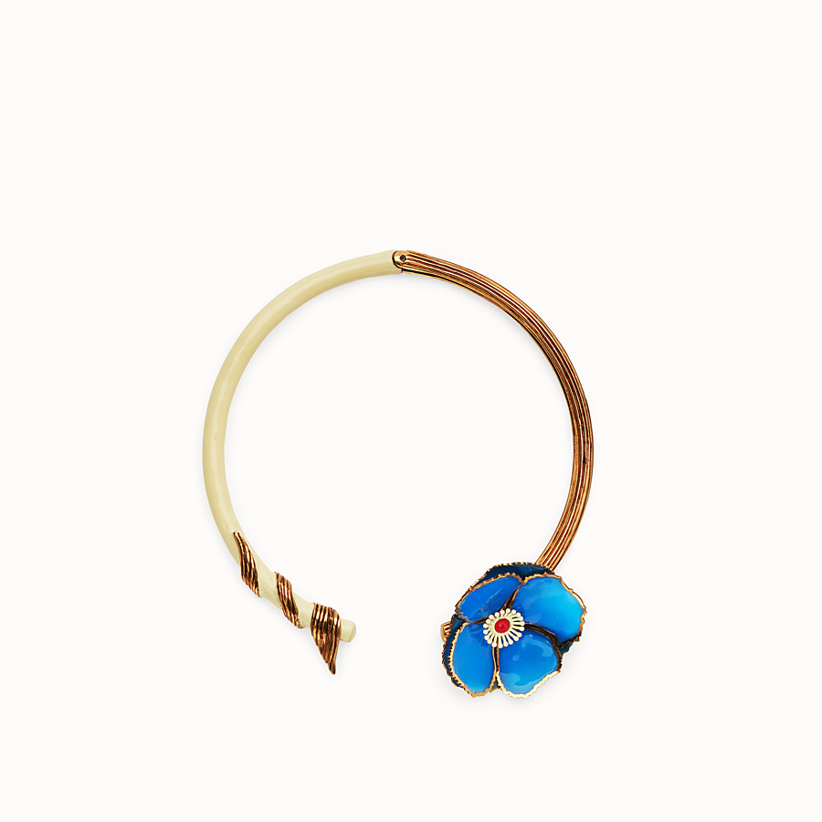 FENDI CHOKER FLOWERS - Multicolor necklace - view 1 detail