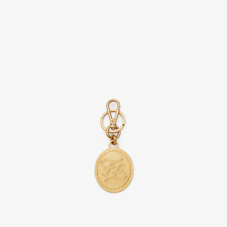 FENDI KEY RING - Golden metal key ring - view 1 detail