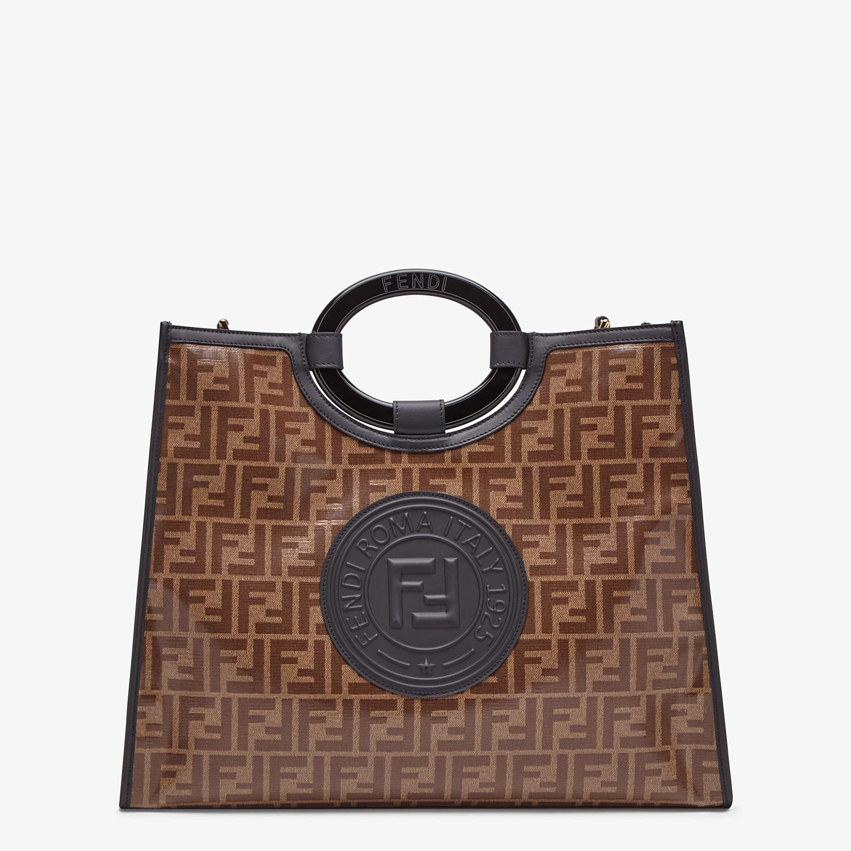 FENDI RUNAWAY SHOPPER - Shopper in brown fabric - view 1 detail