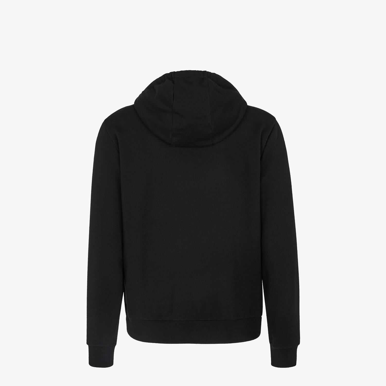 FENDI SWEATSHIRT - Black jersey jumper - view 2 detail