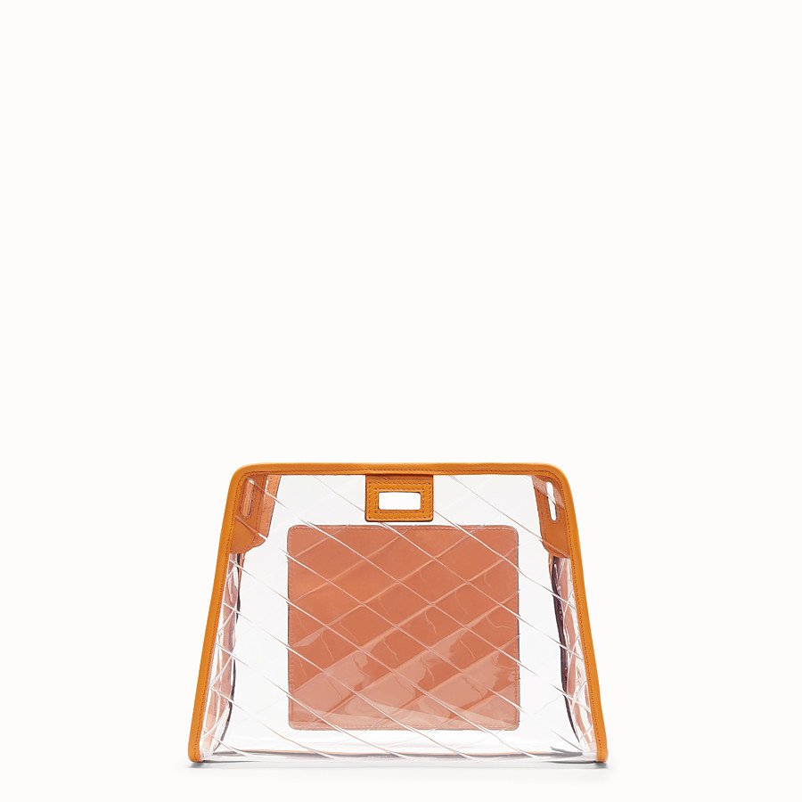 FENDI SMALL PEEKABOO DEFENDER - Orange leather Peekaboo cover - view 3 detail