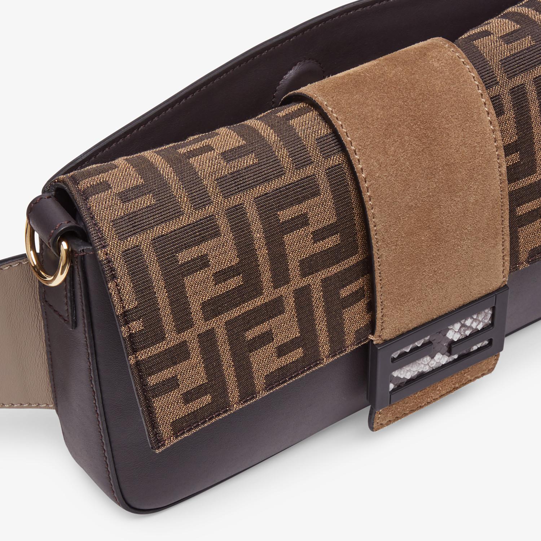 FENDI BAGUETTE - Brown calfskin bag - view 6 detail
