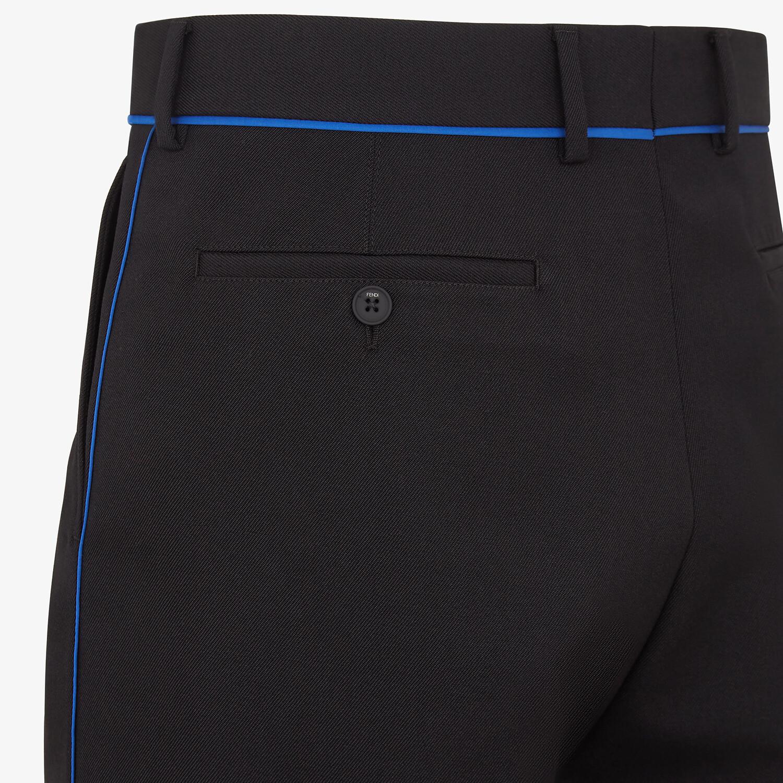 FENDI BERMUDAS - Black wool pants - view 3 detail