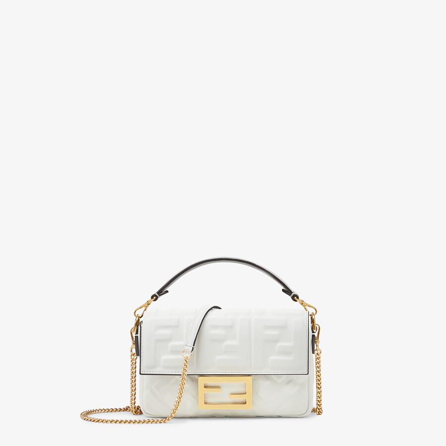FENDI BAGUETTE - White leather bag - view 1 detail