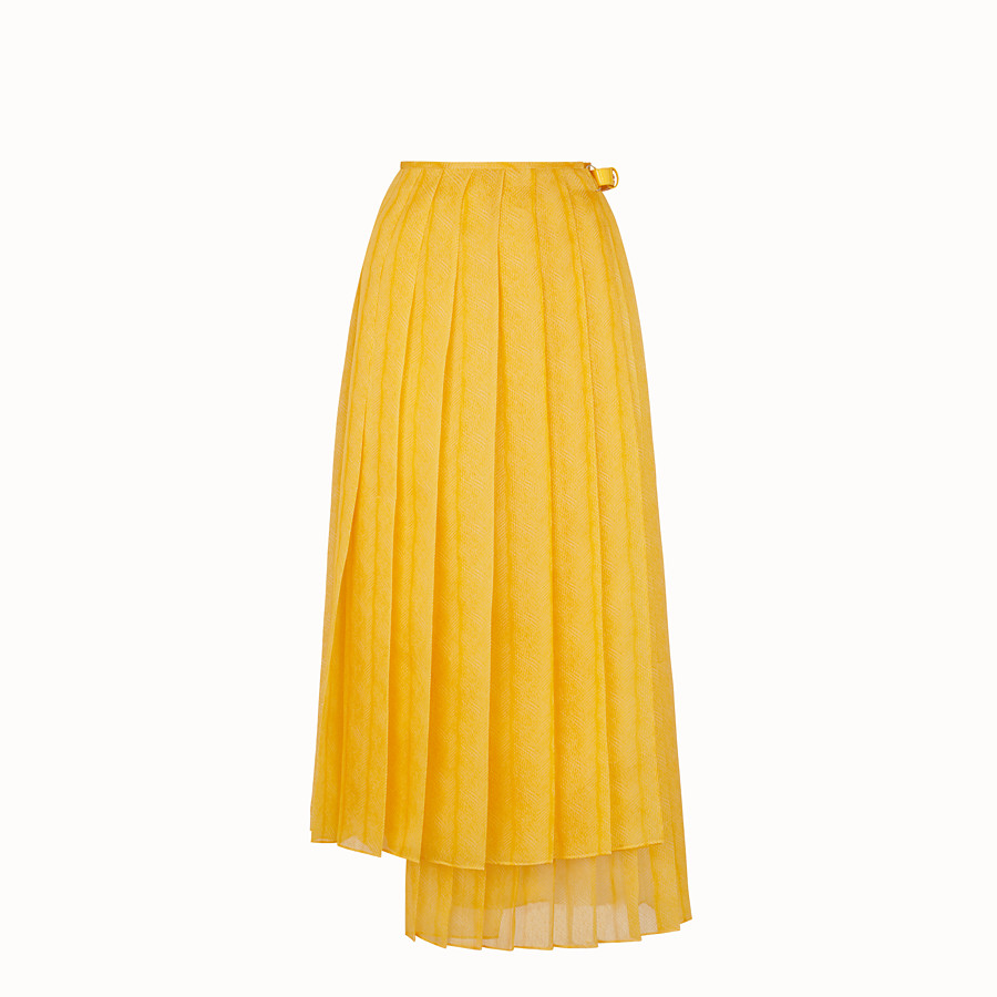 FENDI SKIRT - Yellow organza skirt - view 1 detail