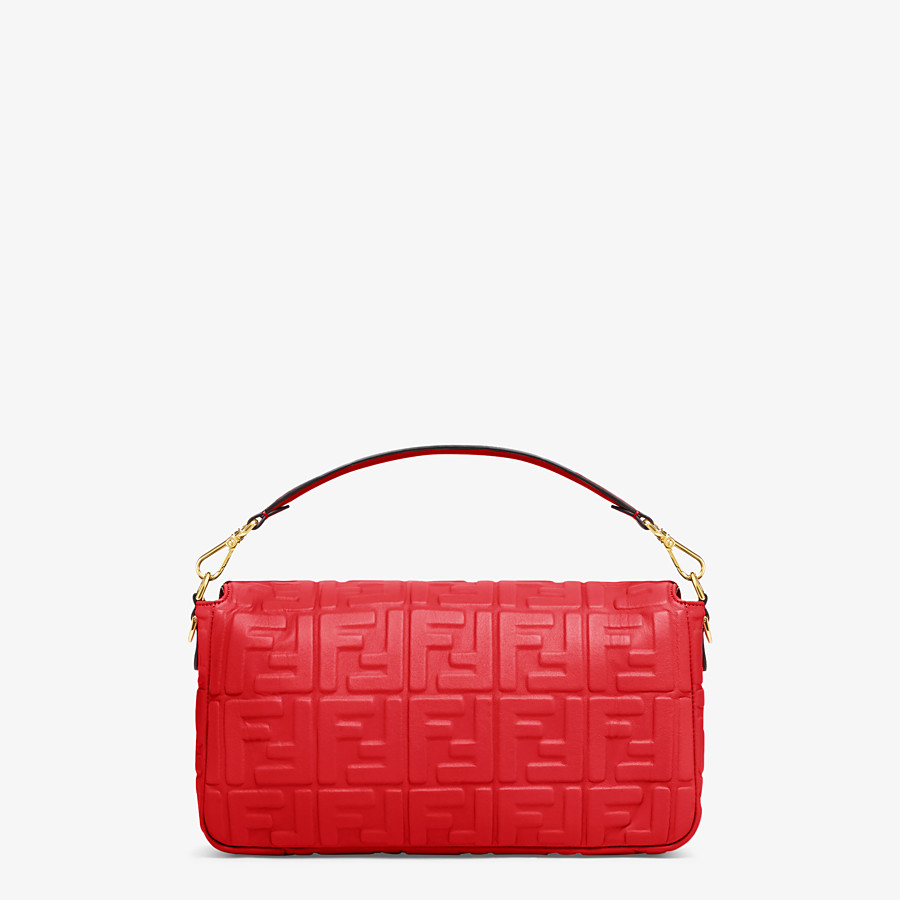 FENDI BAGUETTE LARGE - Red leather bag - view 4 detail