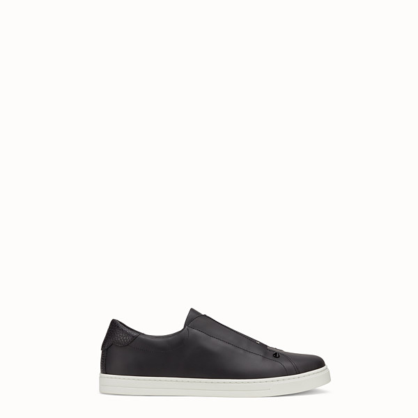 FENDI SNEAKER - Slip-on aus Leder in Schwarz - view 1 small thumbnail