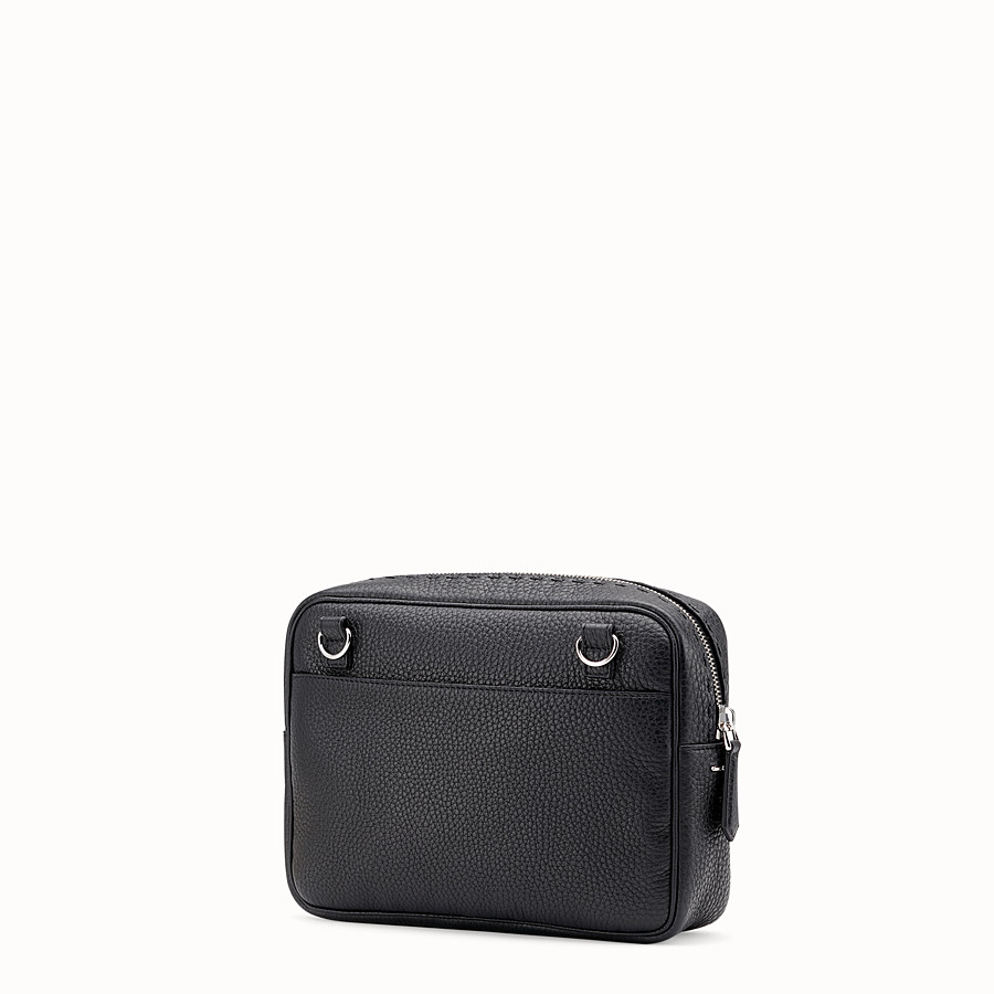 FENDI LARGE CAMERA CASE - Black leather bag - view 2 detail