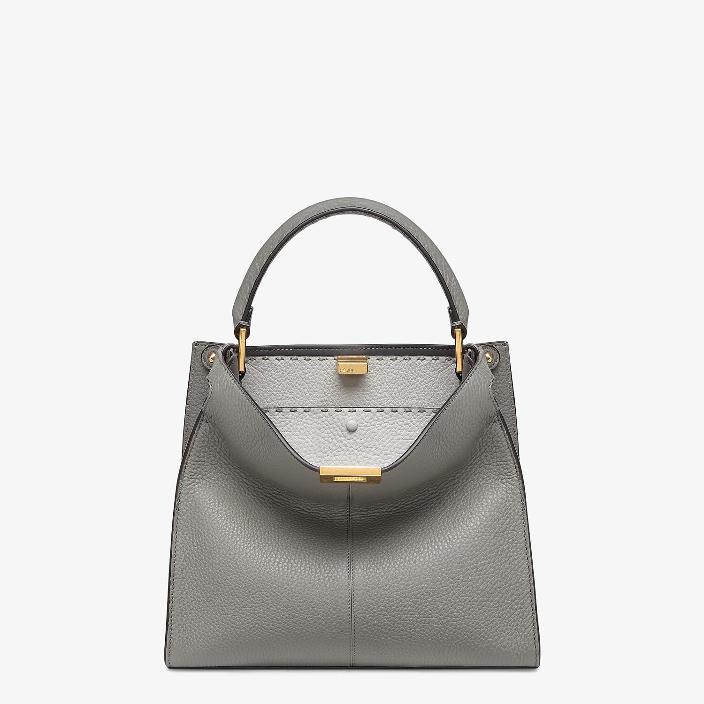 FENDI PEEKABOO X-LITE MEDIUM - Gray Cuoio Romano leather bag - view 2 detail