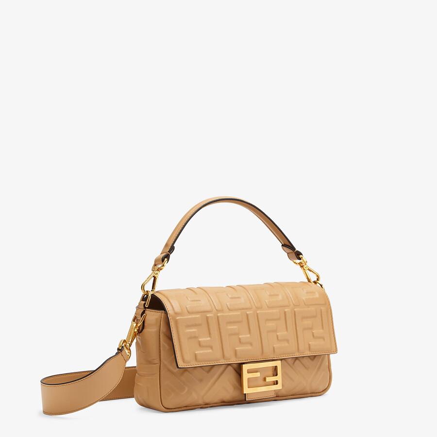 FENDI BAGUETTE - Light brown nappa leather bag - view 3 detail