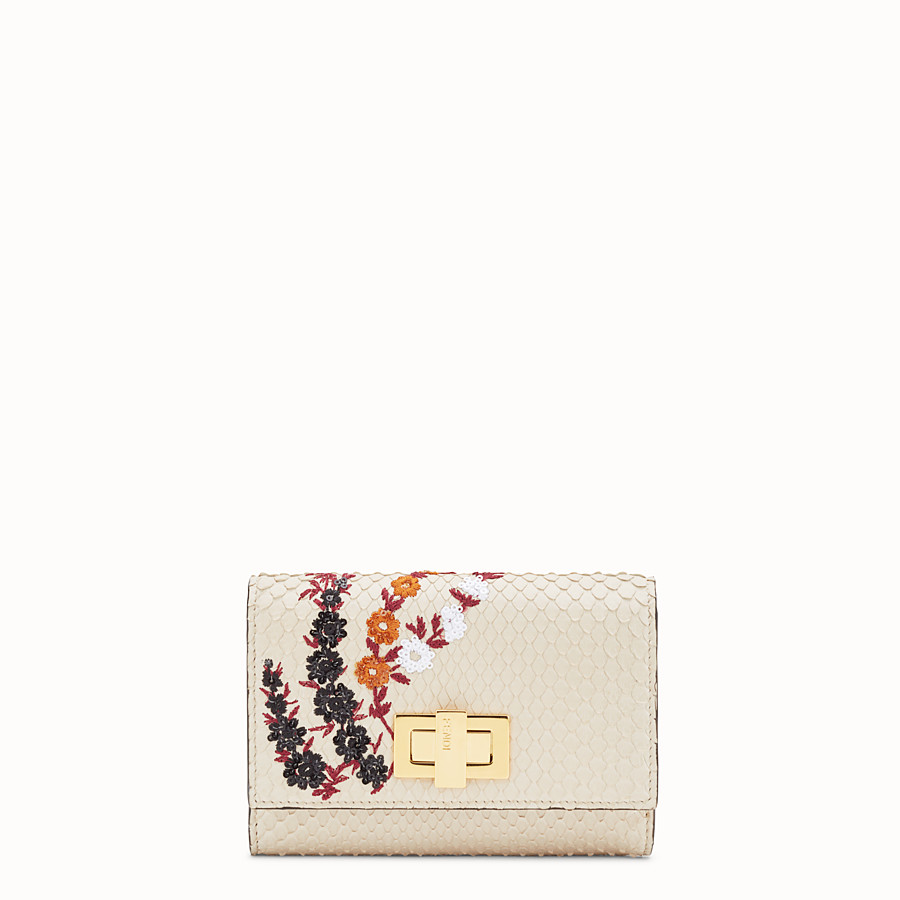 FENDI CONTINENTAL MEDIUM - White python wallet - view 1 detail