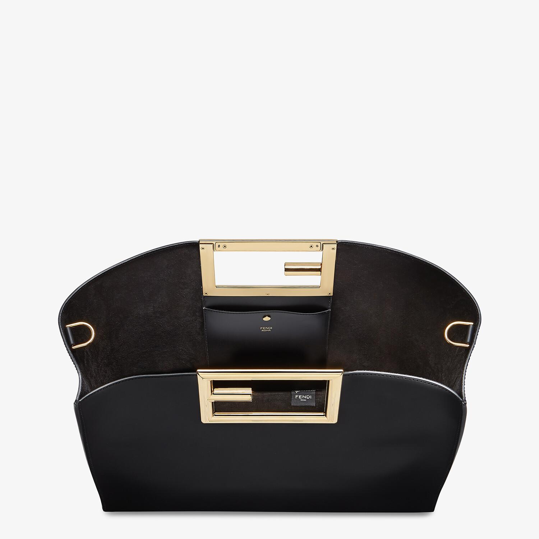 FENDI FENDI WAY MEDIUM - Black leather bag - view 5 detail