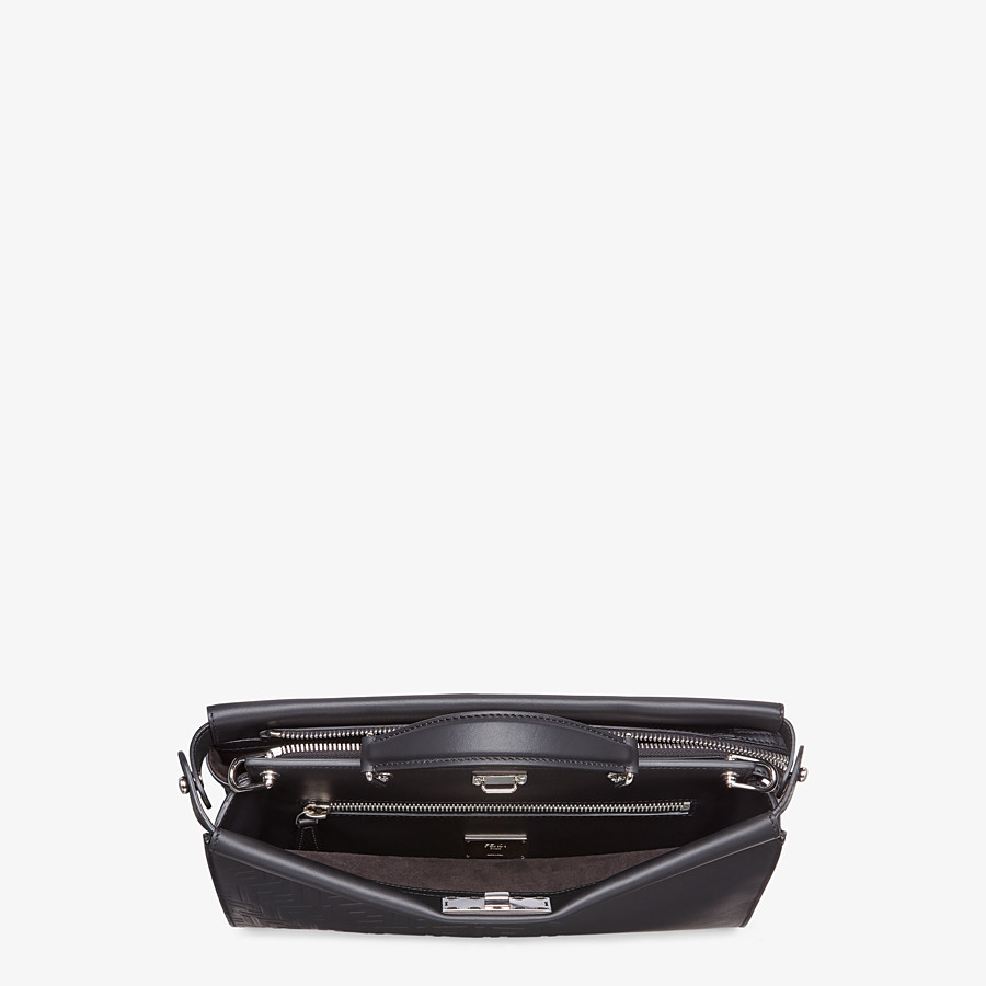 FENDI PEEKABOO ICONIC FIT - Black, calf leather bag - view 4 detail