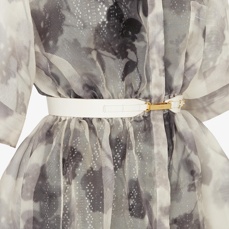 FENDI KLEID - Kleid aus Organza in Grau - view 3 detail