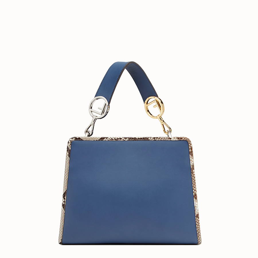 FENDI RUNAWAY SMALL - Exotic blue leather bag - view 3 detail