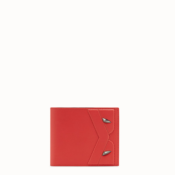 FENDI WALLET - Red leather bi-fold wallet - view 1 small thumbnail