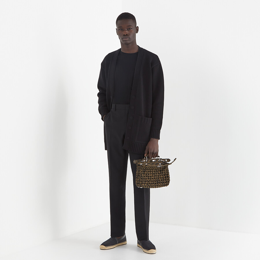 FENDI TROUSERS - Black wool trousers - view 4 detail