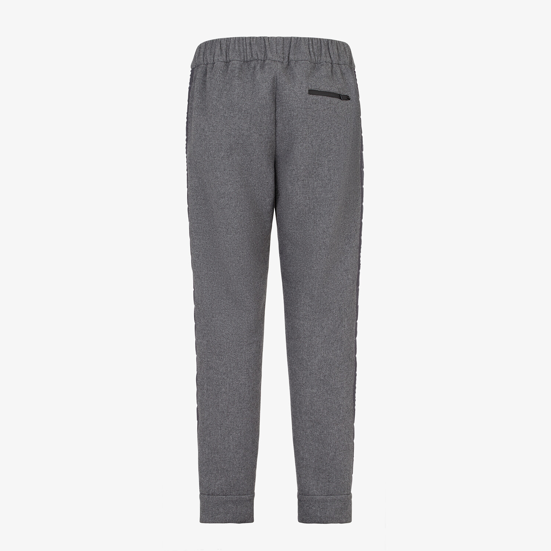 FENDI PANTS - Gray wool pants - view 2 detail