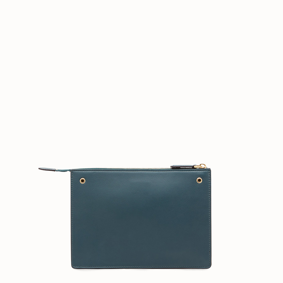 FENDI MINI POUCH - Green leather mini-bag - view 3 detail