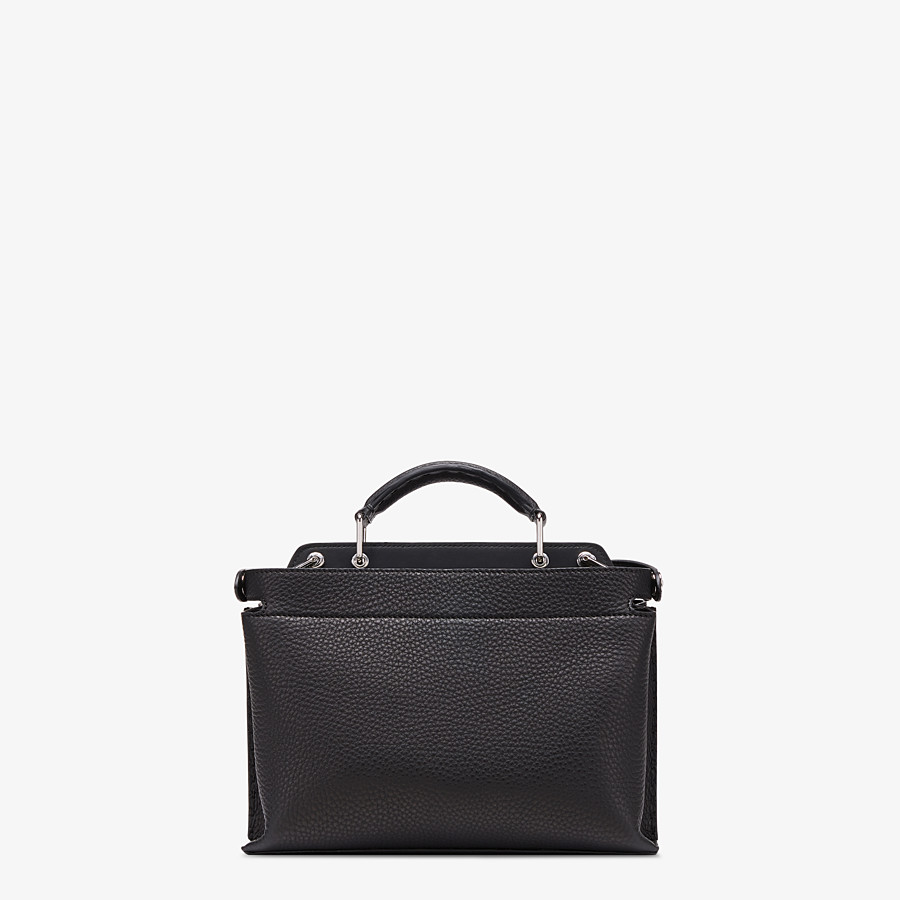 FENDI PEEKABOO ICONIC ESSENTIALLY - Black leather bag - view 3 detail