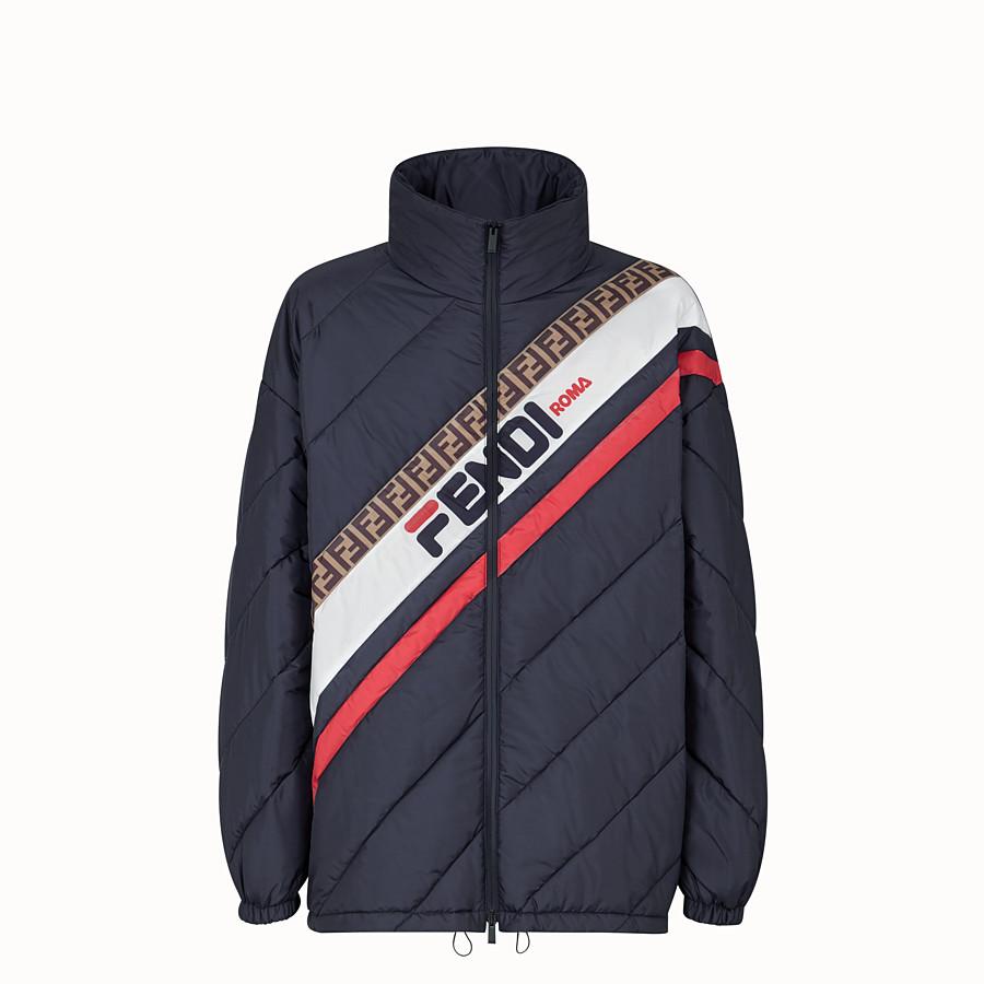 FENDI GILET - Blue nylon down jacket - view 1 detail