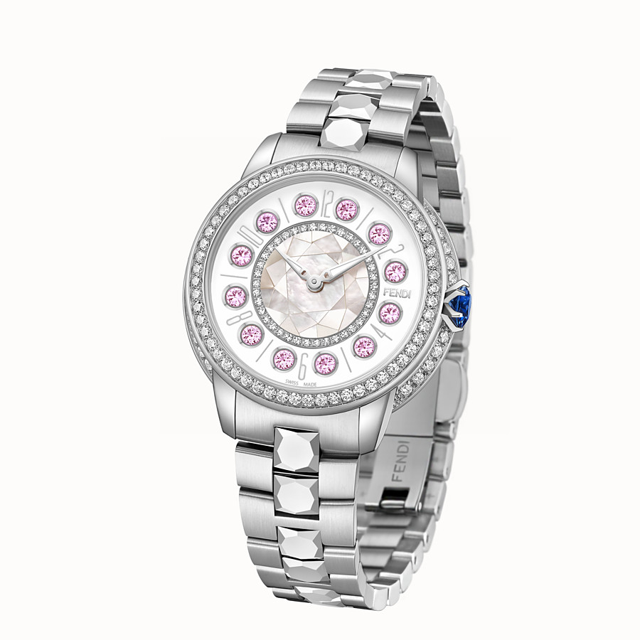 FENDI FENDI ISHINE - 33 MM - Watch with diamonds and rotating precious stones - view 2 detail